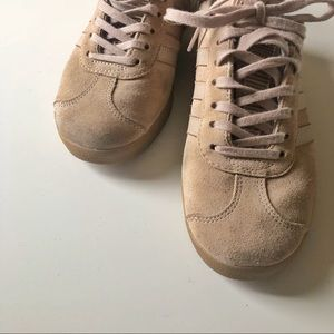 finest selection bad0a 89646 Adidas Shoes - Adidas Gazelle nude suede sneakers w  rubber sole